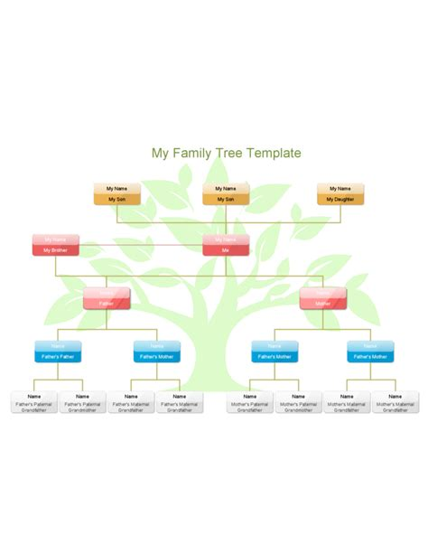 my family tree template free download