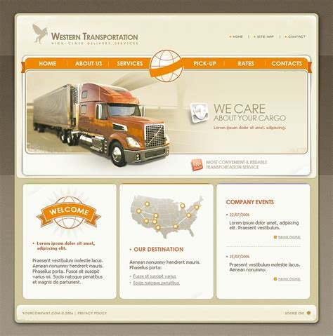 Trucking Website Template 11767 Truck Transport Website Templates Free