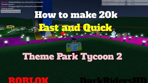 To 20k by 20k On Theme Park Tycoon 2 Roblox