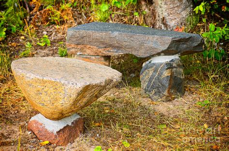 the rock benching rock bench and table photograph by les palenik