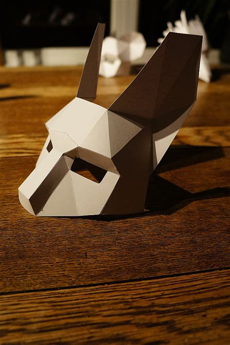 How To Make A 3d Mask Out Of Paper - make a half rabbit mask from recycled card