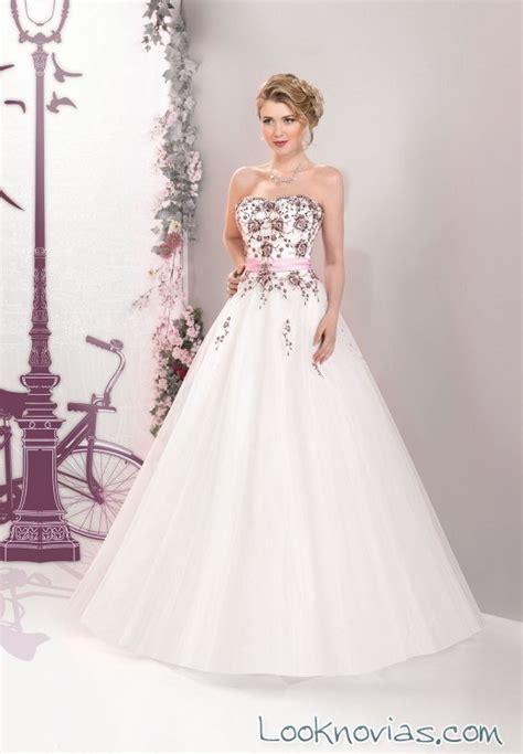 imagenes de vestidos de novia bordados originales vestidos con bordados en color