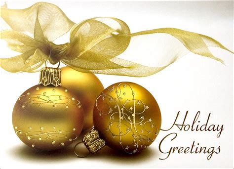 gold holiday bulbs ornaments from cardsdirect