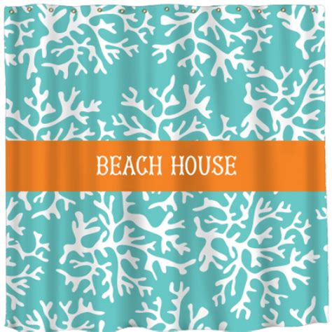 beach house shower curtain monogrammed and personalized shower curtains the well