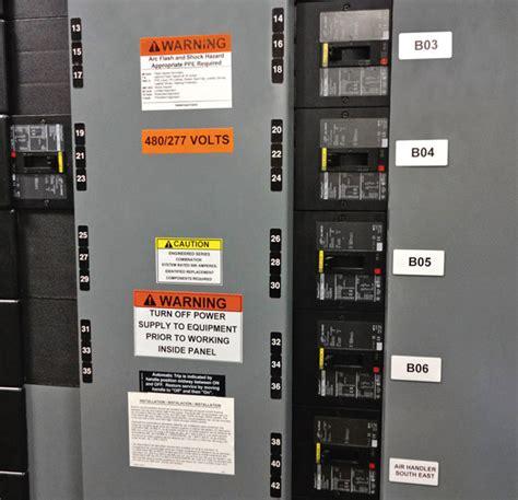 Label Panel electrical circuit breaker panel labels efcaviation