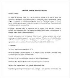 real estate business plan template free real estate business plan template 10 free word excel