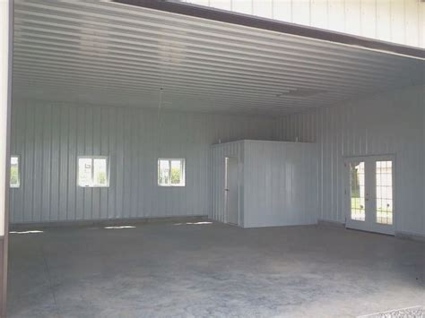 pole barn finished  metal liner kit pole barn
