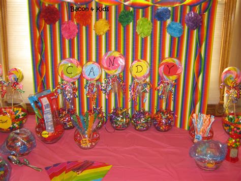 themes lollipop candy themed party bacon kids