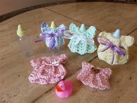 fast and easy baby shower souvenir a crochet para baby shower vestidito paso a paso