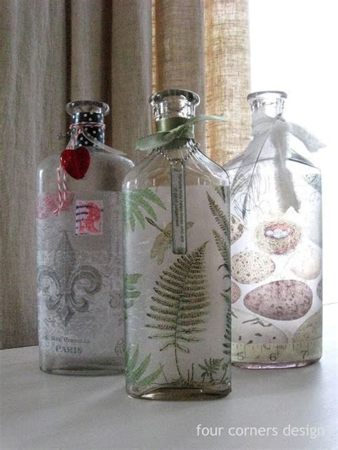 Decoupage On Glass Jars - best 25 decoupage glass ideas only on