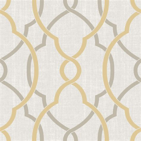 peel and stick wallpaper shop brewster wallcovering peel and stick yellow vinyl geometric wallpaper at lowes com