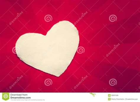 stylish heart design royalty free white heart wool on paper royalty free stock photos
