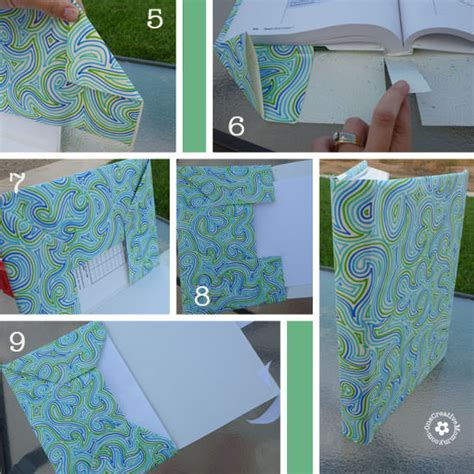 How To Make A Book Cover With Paper - diy paper book cover onecreativemommy