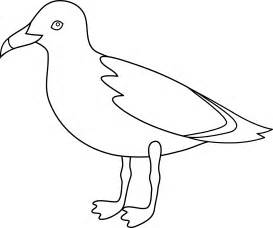 Seagull Line Art  Free Clip sketch template