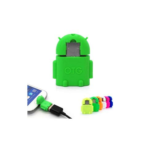 Otg Android Robot Usb On The Go For Smartphone Tab adaptador micro usb otg robot android smartystock