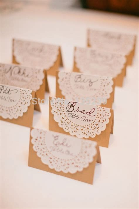 how to make table name cards 50pcs wedding name place table or cards shabby