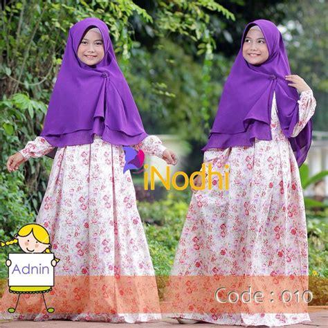 Abiya Khimar Dusty Pink indohi baju anak muslim