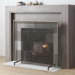 modern fireplace cover ansel plaid fireplace screen crate and barrel