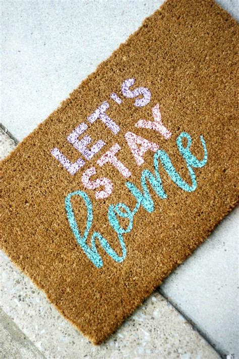 cute personalized door mat   easy steps diy candy