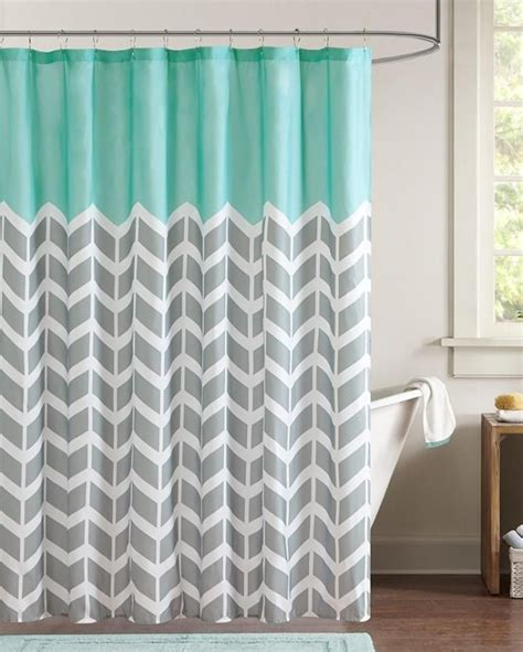 Youth Shower Curtains Chevron Aqua Shower Curtain Bedroom Ideas Aqua Family House Plans And