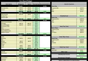 detailed personal budget workbook