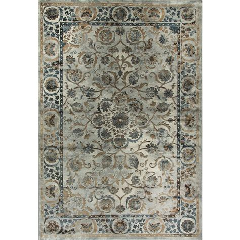 dynamic rugs treasure dynamic rugs royal treasure soft blue mocha 2 ft x 3 ft 5 in indoor area rug rt2490267935