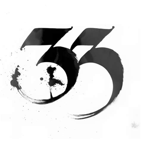 number 3 typography 33 typography lettering calligraphy typography