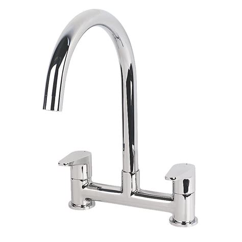 Swirl Tap by Swirl Rapture Dual Lever Mono Mixer Kitchen Tap Chrome