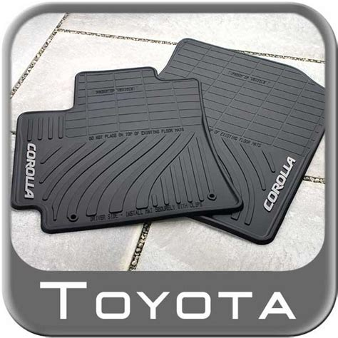 Corolla All Weather Floor Mats by Genuine Toyota All Weather Floor Mats For The 2013 Toyota