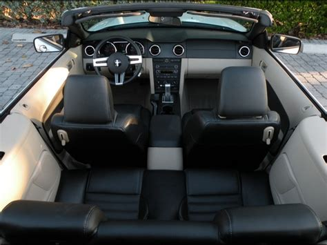 ford mustang convertible back seat space 2009 ford mustang v6 convertible for sale in fort myers
