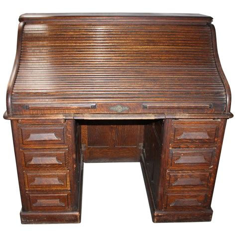 the city desk company late 19th century gunn furniture co roll top desk at 1stdibs