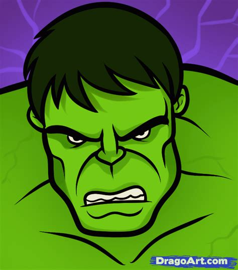 how to draw the hulk easy step by step marvel characters