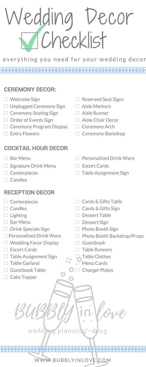 Wedding Decor Checklist   Wedding Decor   Ceremony Decor