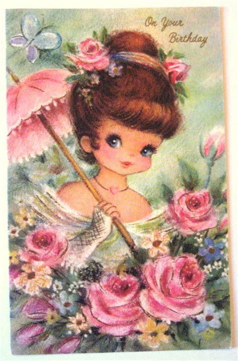Images Vintage Birthday Cards Vintage Birthday Card Patterns Pinterest