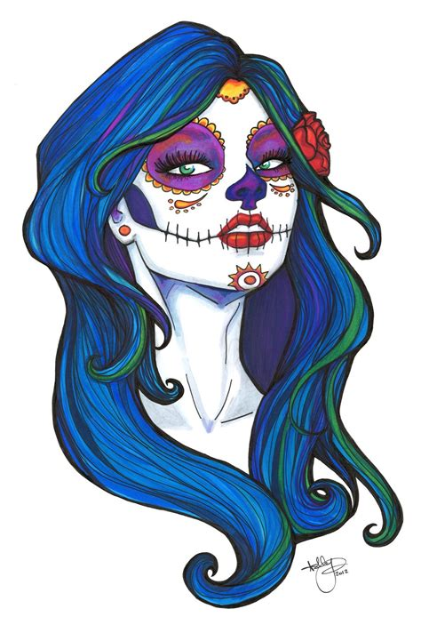 day of the dead color 2 by badash13 on deviantart