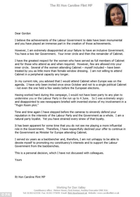 Resignation Letter Bittersweet Fresh For Brown As Half Of Grassroots Labour Supporters Want Him To Go Before Next General