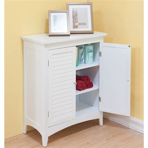 White Floor Cabinet Neiltortorella Com Bathroom Storage Cabinets White