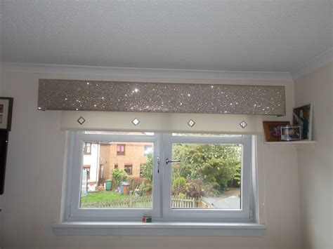 Bow Window Curtains glitter pelmet gallery