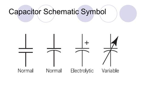 electrical capacitor schematic symbol introduction to capacitors ppt