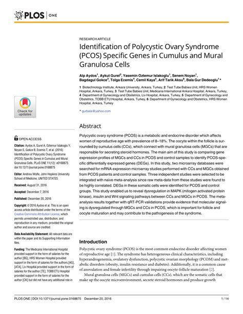 identification  polycystic ovary syndrome pcos