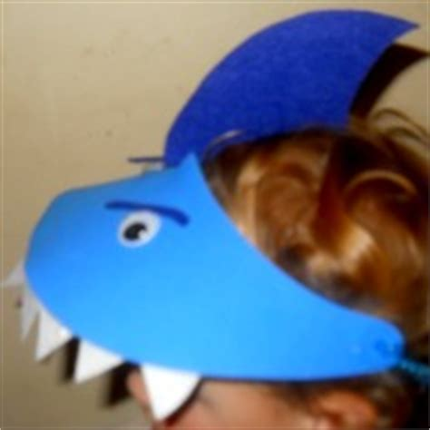 shark hat craft visors teeth and chains