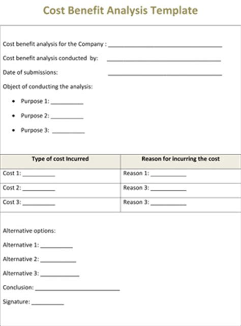 cost analysis template free application form blank application form templates for