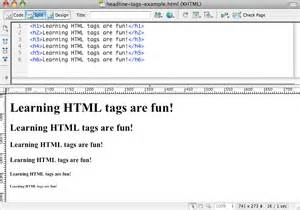 html tags part 1 the structural elements denise jones