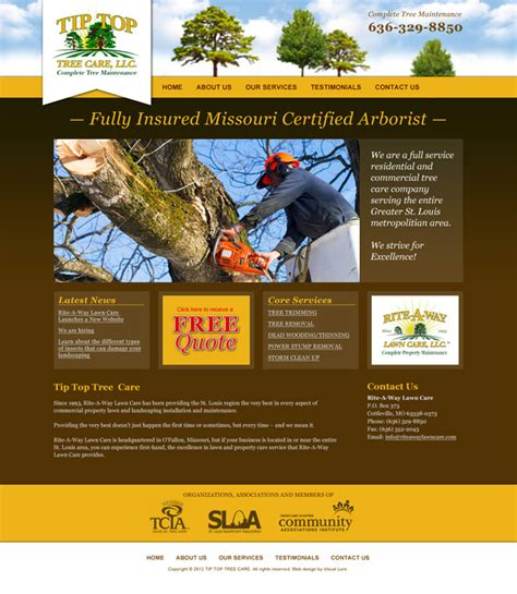 tree website website design for st louis based landscaping lawn care
