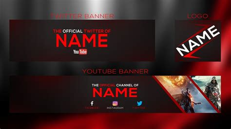 space youtube banner template logo photoshop psd free