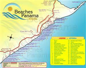 beaches map maps beaches panama