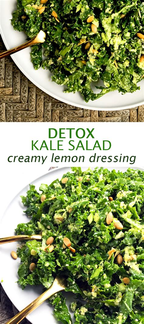 Kale Detox Salad With Pesto by Detox Kale Salad With Lemon Dressing Grazed