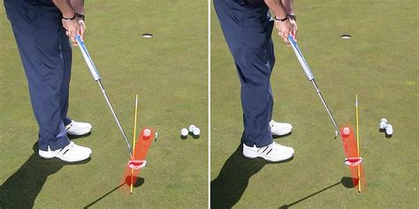 swing path drills use the path drill to improve putting stroke path the