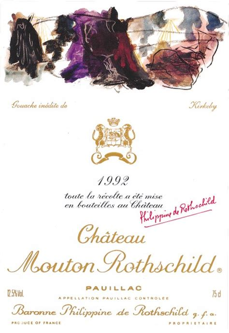 ch 226 teau mouton rothschild the labels room mouton rothschild 1992 per kirkeby