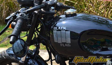 Potong Tulang Jok honda mega pro 2012 black flag gilamotor